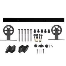 Afbeeldingen van Intersteel Schuifdeursysteem Wheel Top mat zwart