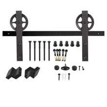 Afbeeldingen van Intersteel Schuifdeursysteem Wheel mat zwart