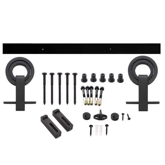 Afbeelding van Intersteel Schuifdeursysteem Modern Top mat zwart