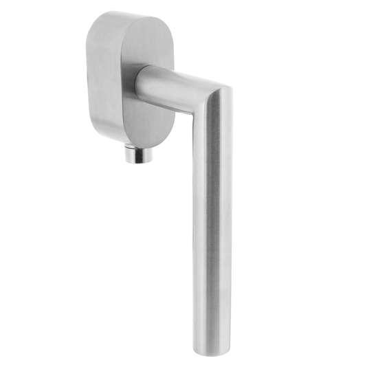 Afbeelding van Intersteel Afsluitbare raamkruk hoek 90° op ovale rozet met stift 35 mm roestvaststaal geborsteld SKG***