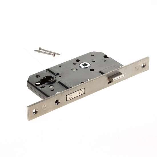 Afbeelding van VH-cilinderslot PC 72mm, rvs rechthoekige voorplaat, SKG2, 25x238mm