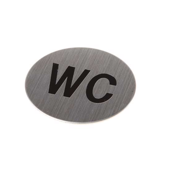 Afbeelding van Pictogram zelfklevend rond WC RVS
