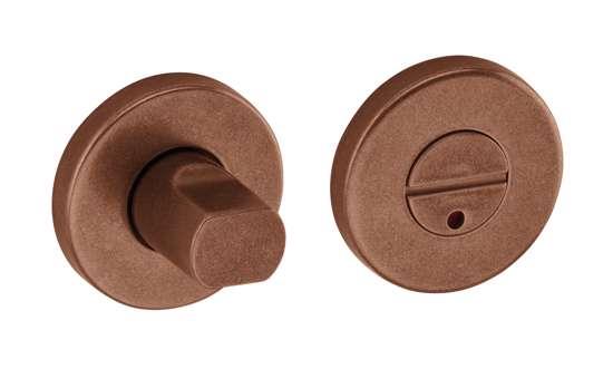Afbeelding van Vrij en bezet garnituur B1 standaard 50x8 mm met indicatie brons gestraald