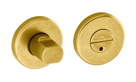Afbeelding van Vrij en bezet garnituur B1 standaard 50x8 mm met indicatie messing gestraald
