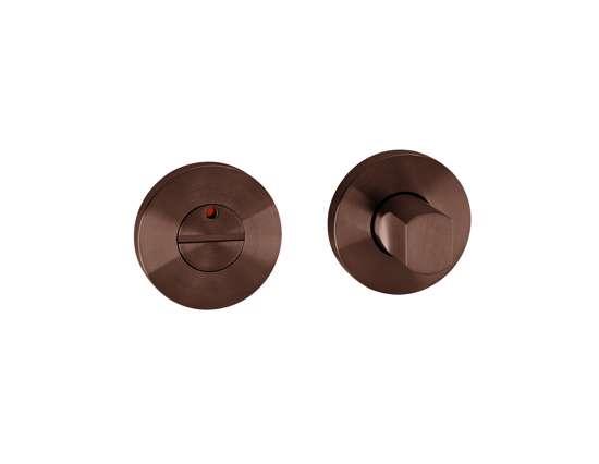 Afbeelding van Vrij en bezet garnituur B1 standaard 50x8 mm met indicatie donker brons PVD