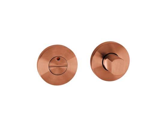 Afbeelding van Vrij en bezet garnituur B1 standaard 50x8 mm met indicatie brons PVD