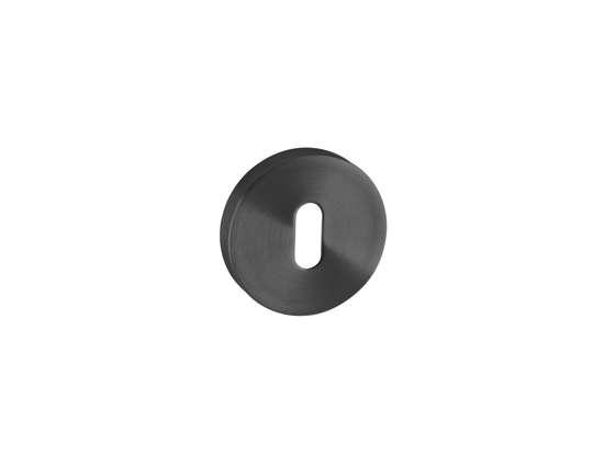 Afbeelding van Sleutelrozetten 50x8 mm met metalen bevestigings rozet zwart PVD