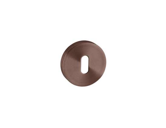 Afbeelding van Sleutelrozetten 50x8 mm met metalen bevestigings rozet donker brons PVD