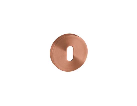 Afbeelding van Sleutelrozetten 50x8 mm met metalen bevestigings rozet brons PVD
