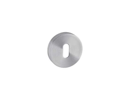 Afbeelding van Sleutelrozetten 50x8 mm met metalen bevestigings rozet roestvaststaal satin