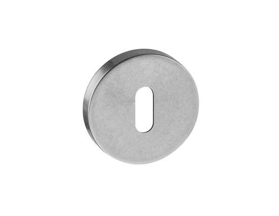 Afbeelding van Sleutel rozetten 50x8 mm met nylon onderrozet roestvaststaal gestraald