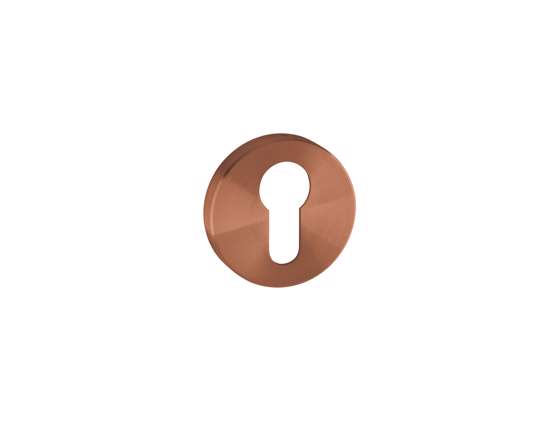 Afbeelding van Cilinder rozetten 50x8 mm met metalen bevestigings rozet brons PVD