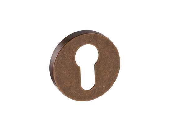 Afbeelding van Cilinder rozetten 50x8 mm met nylon onderrozet brons gestraald