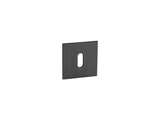 Afbeelding van Sleutelrozetten 50x50x8 mm met metalen bevestigings rozet zwart PVD