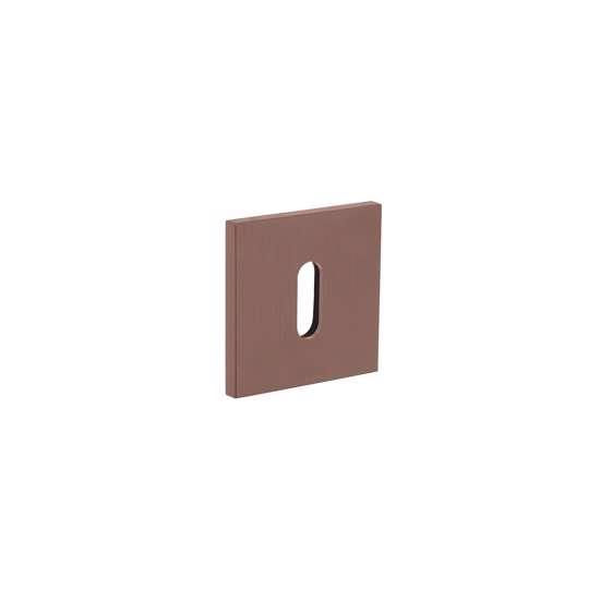 Afbeelding van Olivari rozet vierkant met sleutelgat brons mat titaan PVD