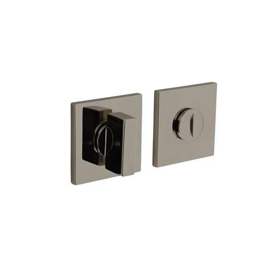 Afbeelding van Olivari rozet toilet-/badkamersluiting vierkant nikkel titaan PVD