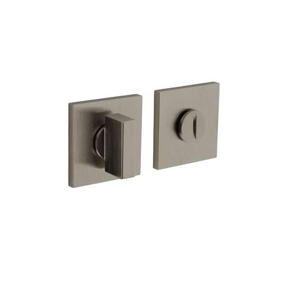 Afbeelding van Olivari rozet toilet-/badkamersluiting vierkant nikkel mat titaan PVD