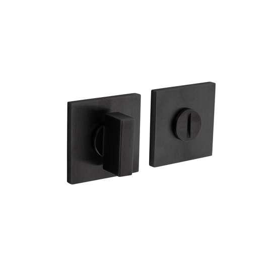 Afbeelding van Olivari rozet toilet-/badkamersluiting vierkant antraciet mat titaan PVD