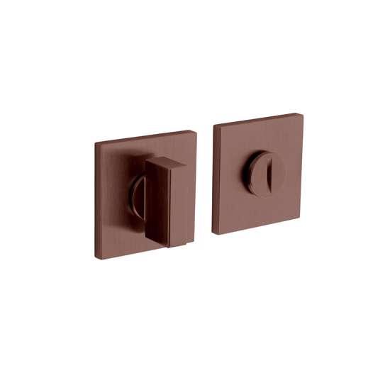 Afbeelding van Olivari rozet toilet-/badkamersluiting vierkant brons mat titaan PVD