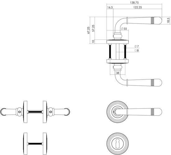 Afbeelding van Intersteel Woningbouw cilinder dag- en nachtslot wit 55 mm
