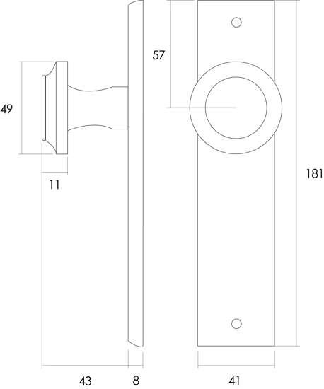 Afbeelding van Intersteel Woningbouw cilinder dag- en nachtslot 55 mm roestvaststaal geborsteld