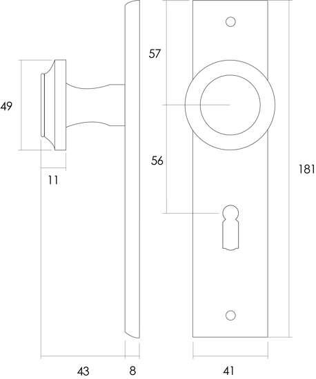 Afbeelding van Intersteel Woningbouw toilet-/badkamerslot 63/8 mm roestvaststaal geborsteld