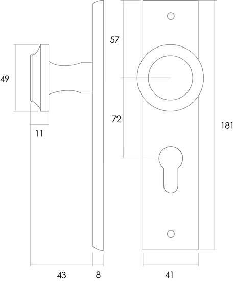Afbeelding van Intersteel Woningbouw cilinder kastslot 55 mm roestvaststaal geborsteld