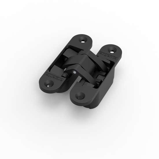 Afbeelding van Argenta 3D verstelbaar, onzichtbaar scharnier, invisible medium, mat zwart ral 9005