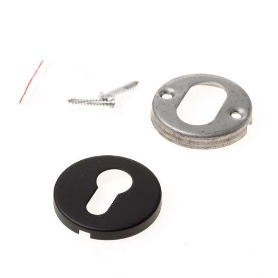 Afbeelding van BASICS LBY50 cilinderplaatje 6mm dik mat zwar