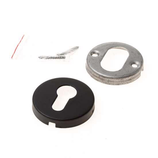 Afbeelding van Formani cilinderrozet, 10mm dik, mat zwart, LBY50D