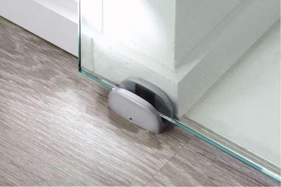 Afbeelding van Verstelbare ondergeleider voor glasdeuren van 8 t/m 12 mm