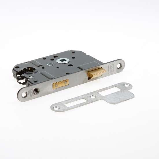 Afbeelding van Nemef Veiligheids Cilinder dag- en nachtslot deurslot PC55mm type 1279/17-50 DIN links