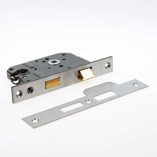Afbeelding van Nemef Veiligheids Cilinder dag- en nachtslot deurslot PC55mm type 4119/17-50 DIN rechts