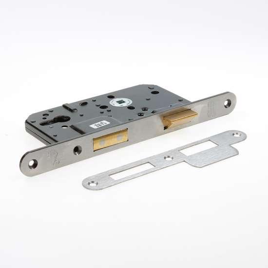 Afbeelding van Nemef Veiligheids Cilinder dag- en nachtslot deurslot PC72mm type 4219/27-60 DIN links