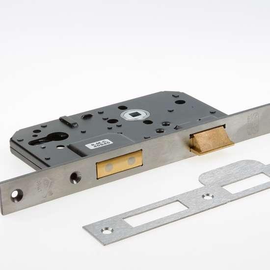 Afbeelding van Nemef Veiligheids Cilinder dag- en nachtslot deurslot PC72mm type 4219/17 -60 DIN rechts