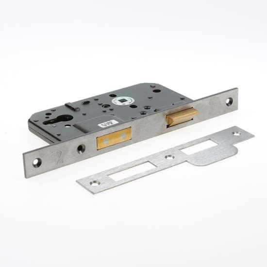 Afbeelding van Nemef Veiligheids Cilinder dag- en nachtslot deurslot PC72mm type 4219/17-60 DIN links