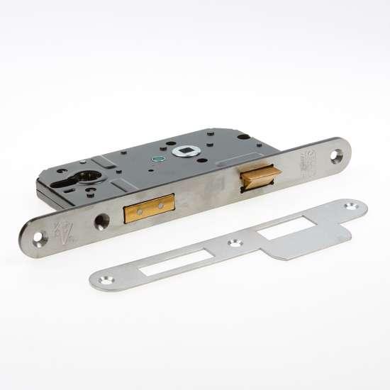 Afbeelding van Nemef Veiligheids Cilinder dag- en nachtslot deurslot PC72mm type 4139/27-50 DIN links