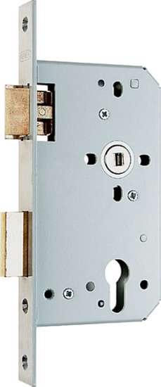 Afbeelding van Nemef Cilinder dag- en nachtslot deurslot PC72mm type 669/77-kv-60 DIN rechts