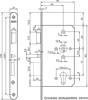 Afbeelding van Nemef Cilinder insteek anti-paniekslot zelf type 699/31-60mm DIN links