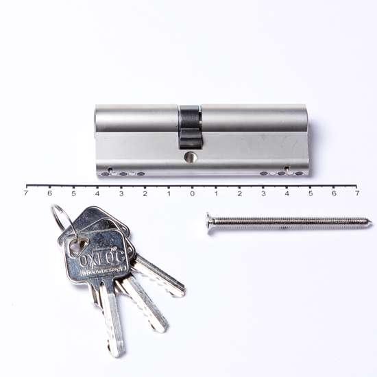 Afbeelding van Deurkrukgarnituurm/ronde rozet roestvaststaal ASL 1075 t.b.v. deurdikte 39-58mm