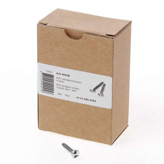 Afbeelding van AIS 4025B Anti-inbraakschroef 4.0 x 25mm staal verzinkt 0112.400.4025