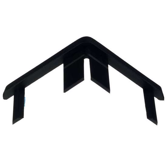 Afbeelding van Afdekkapje zwart 25 x 25mm