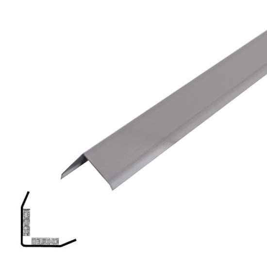 Afbeelding van Storax Hoekbescherming zelfklevend roestvaststaal 30 x 30 x 1mm x 3 meter