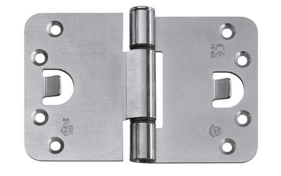 Afbeelding van BSW veiligheidsscharnier Protect 818, afgeronde hoek, verzinkt, 89x102mm, SKG**