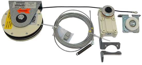 Afbeelding van Dictator Sluitsysteen dictamat 50, type BK,  50Nm, veerkabelrol 2 meter kabel