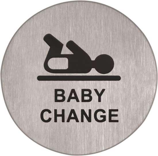Afbeelding van Pictogram rvs zelfkl. 75mm babykamer