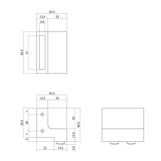 Afbeelding van Set van 2 stoppers tbv schuifdeursysteem, inc