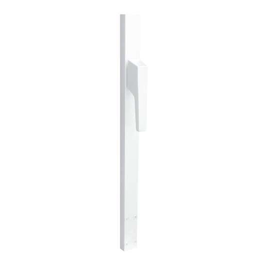 Afbeelding van P+E Espagnolet voor deuren niet afsluitbaar 220 cm linksdraaiend wit