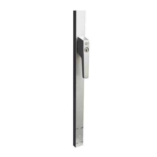 Afbeelding van P+E Veiligheidsespagnolet voor deuren afsluitbaar SKG2 250cm rechtsdraaiend aluminium F1