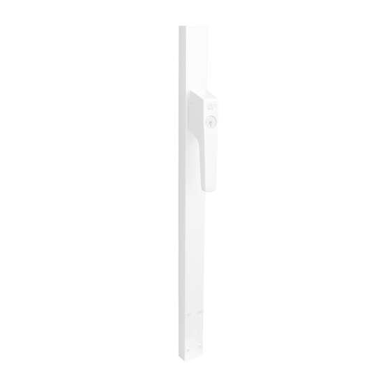 Afbeelding van P+E Veiligheidsespagnolet voor deuren afsluitbaar SKG2 250cm linksdraaiend wit